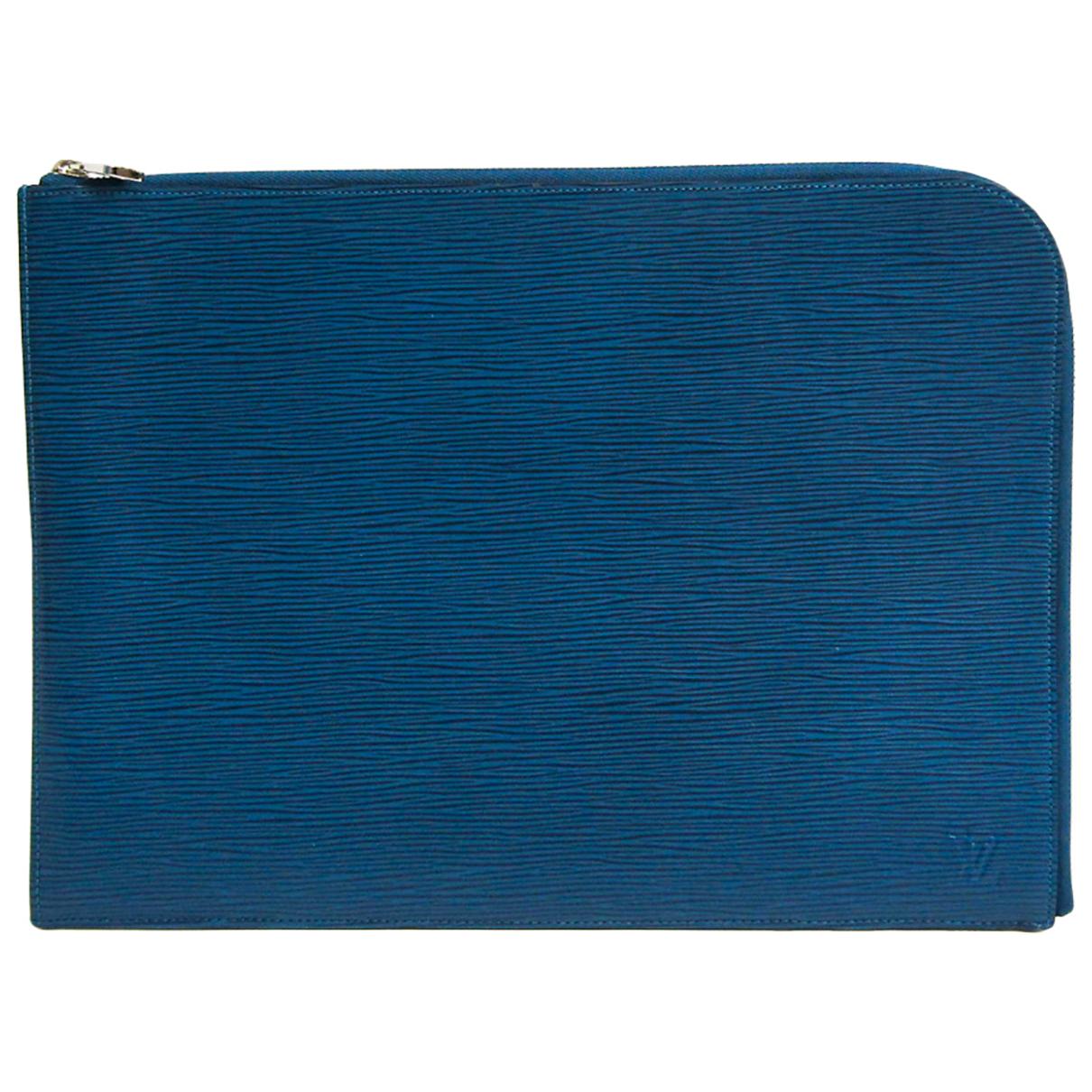 Louis Vuitton N Blue Leather bag for Men N
