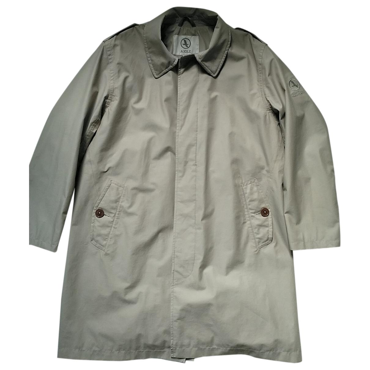 Aigle - Manteau   pour homme en coton - beige