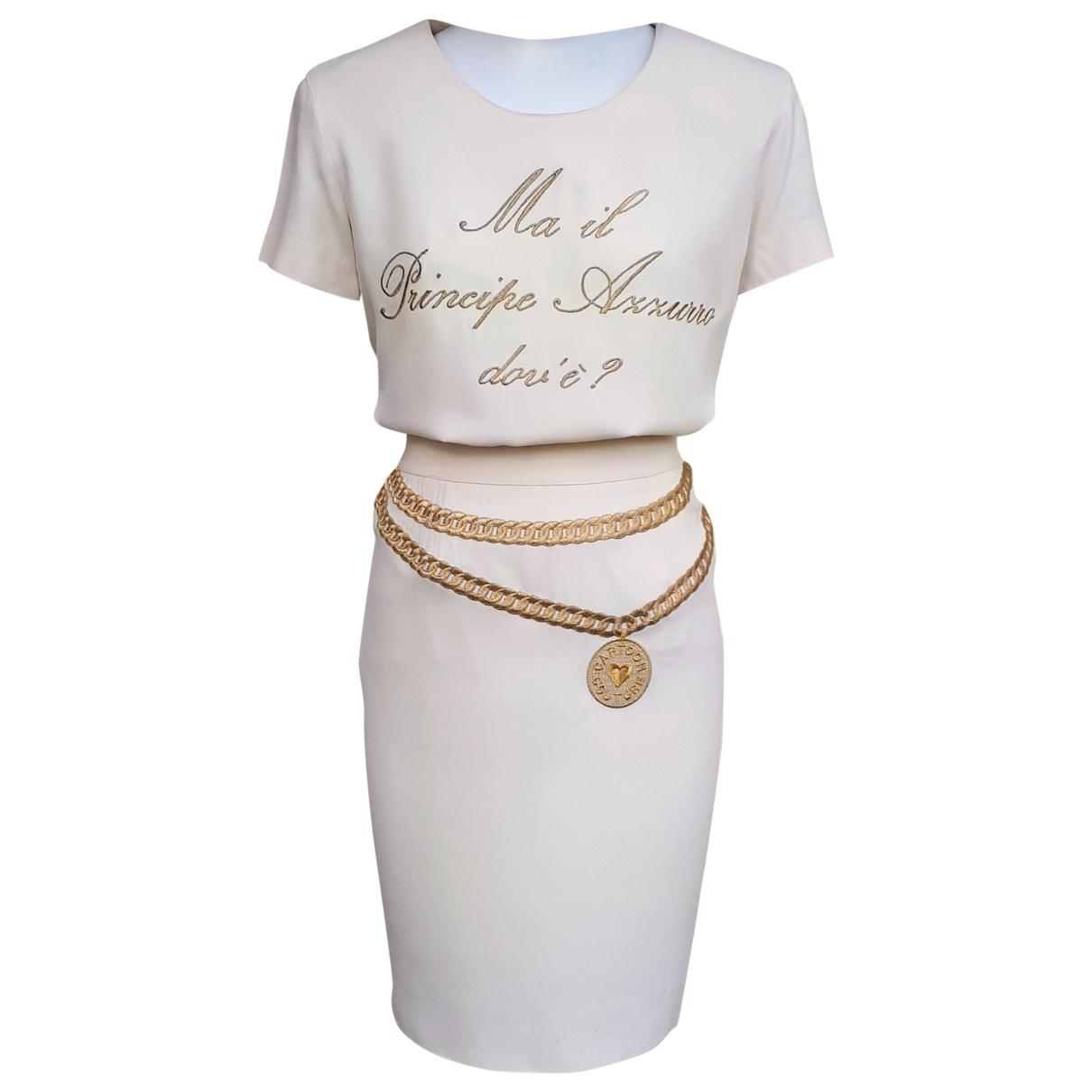 Moschino \N Kleid in  Ecru Synthetik