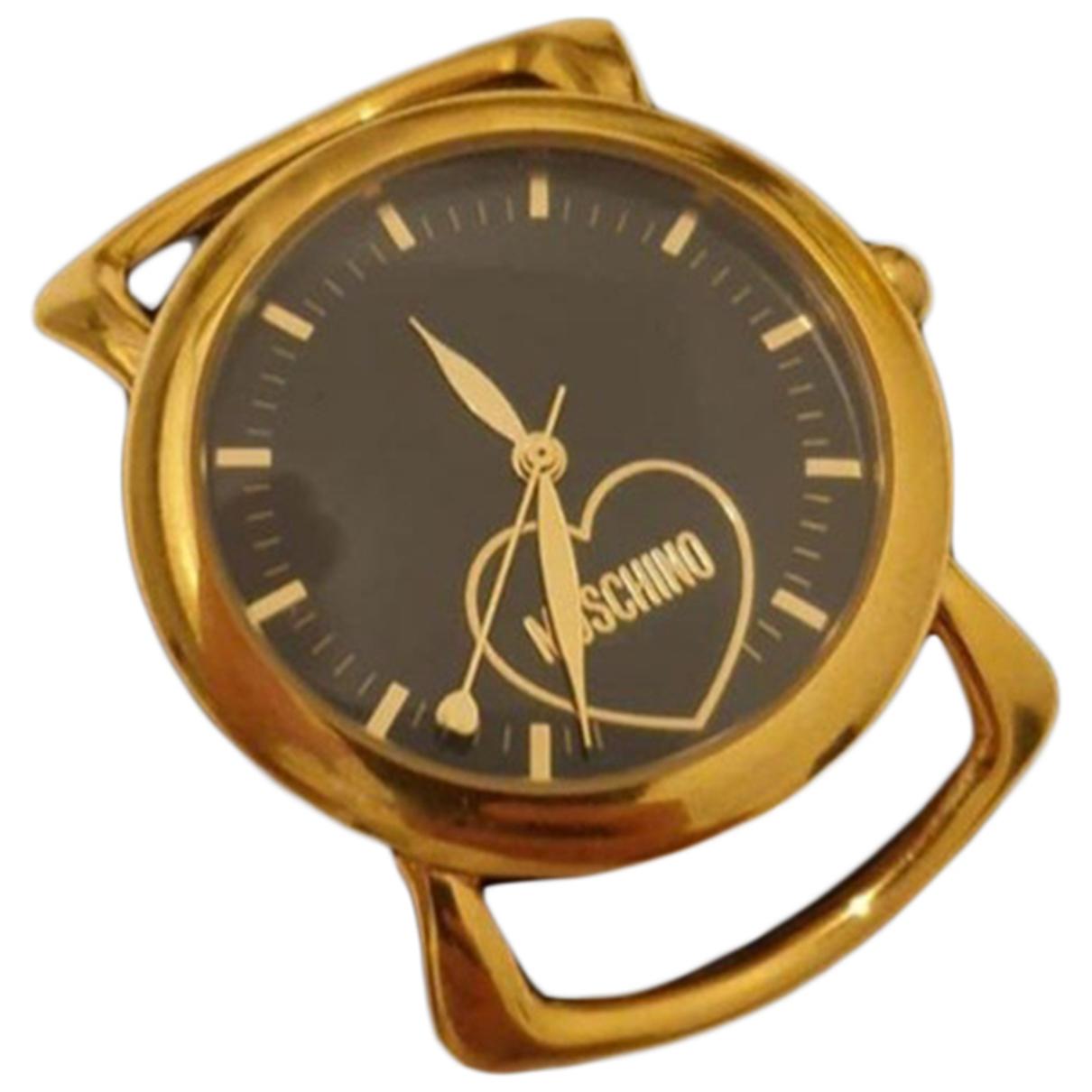 Moschino Cheap And Chic \N Uhr in  Schwarz Stahl