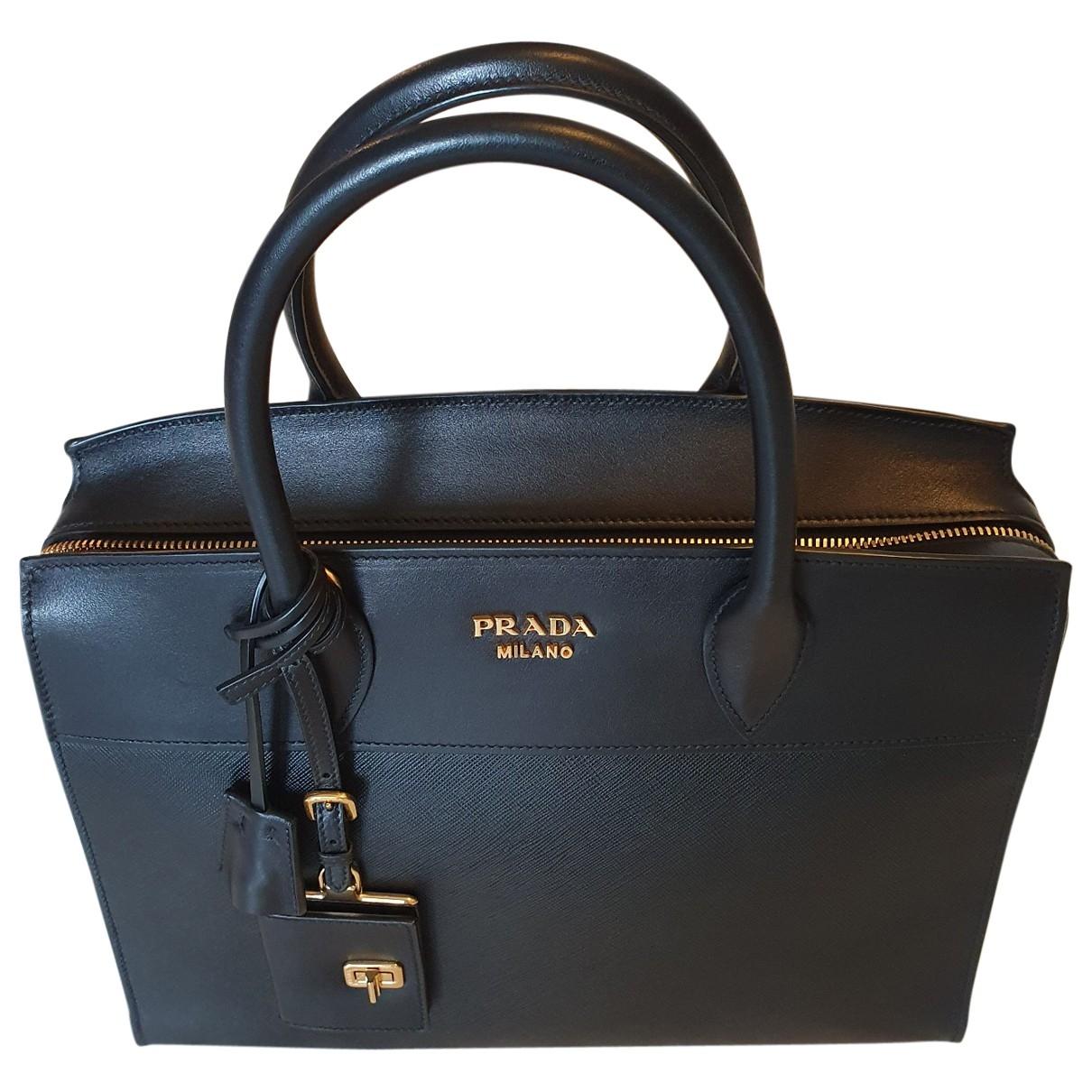 Prada Esplanade Black Leather handbag for Women \N