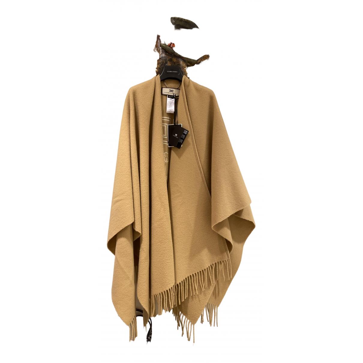 Elisabetta Franchi - Manteau   pour femme en laine - beige