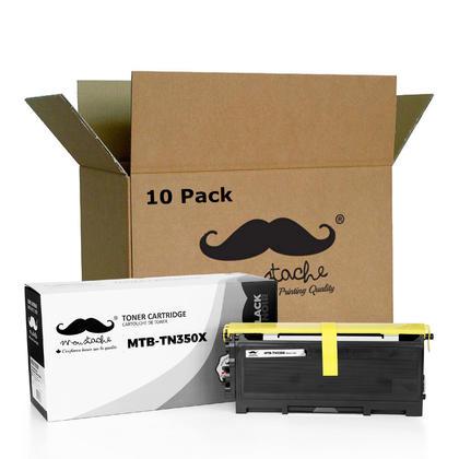 Compatible Brother TN350X cartouche de toner noire extra haute capacite - Moustache@ - 10/paquet