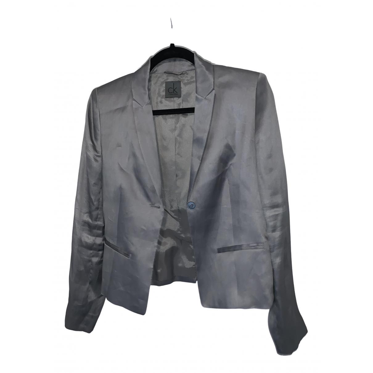 Calvin Klein - Veste   pour femme en soie - gris