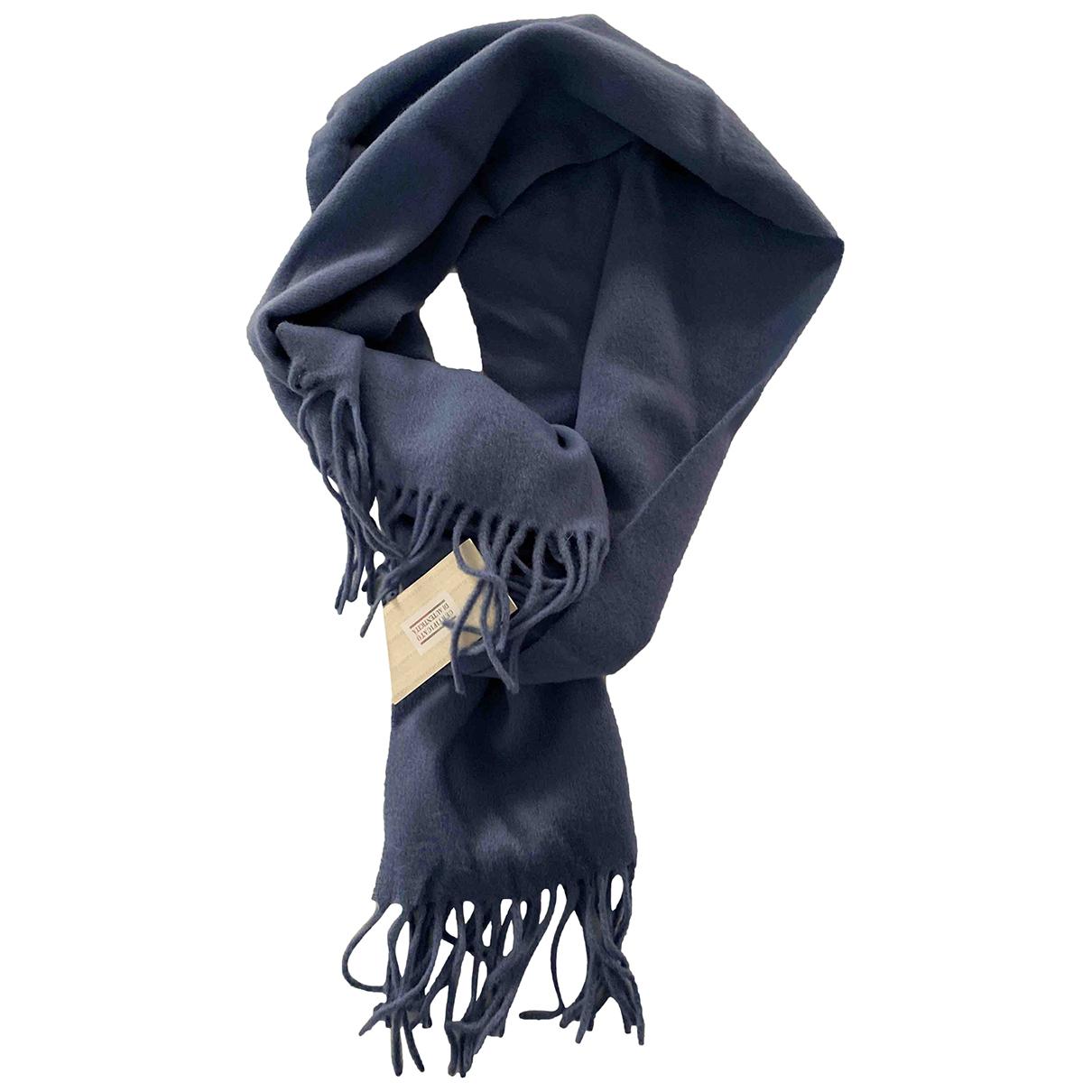 Emporio Armani \N Tuecher, Schal in  Blau Wolle