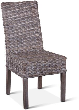 ZWBLIDC18 Bali Collection Dining Chair with Whitewash Wicker and Cushion in