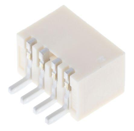 Molex , Pico-SPOX, 87438, 4 Way, 1 Row, Right Angle PCB Header (10)
