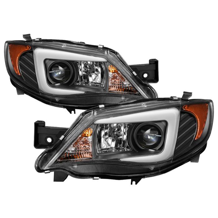 Spyder Auto PRO-YD-SWRX08-LBDRL-BK Projector Headlights Light Bar DRL Black Subaru Impreza WRX 08-14