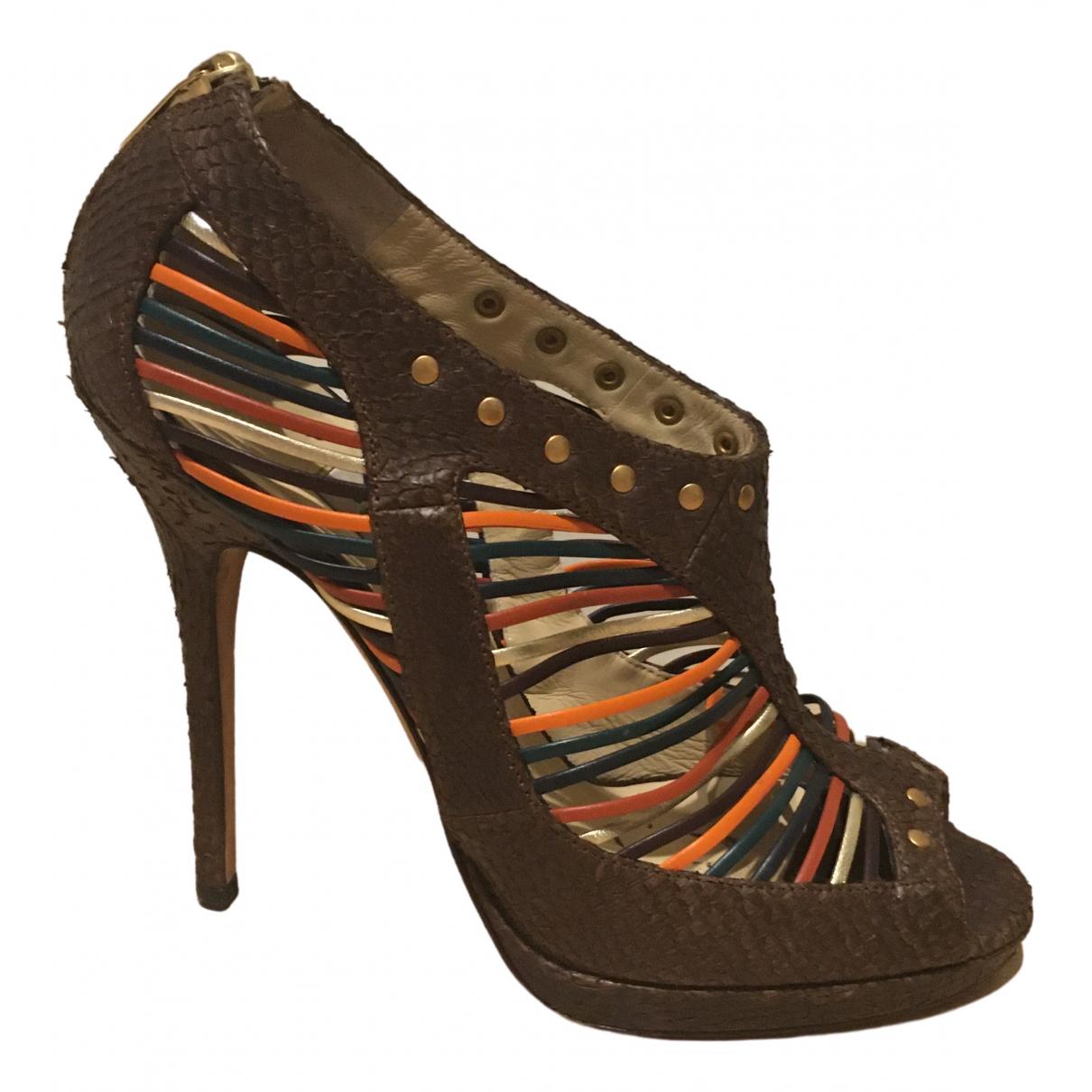 Jimmy Choo \N Brown Python Sandals for Women 40 EU