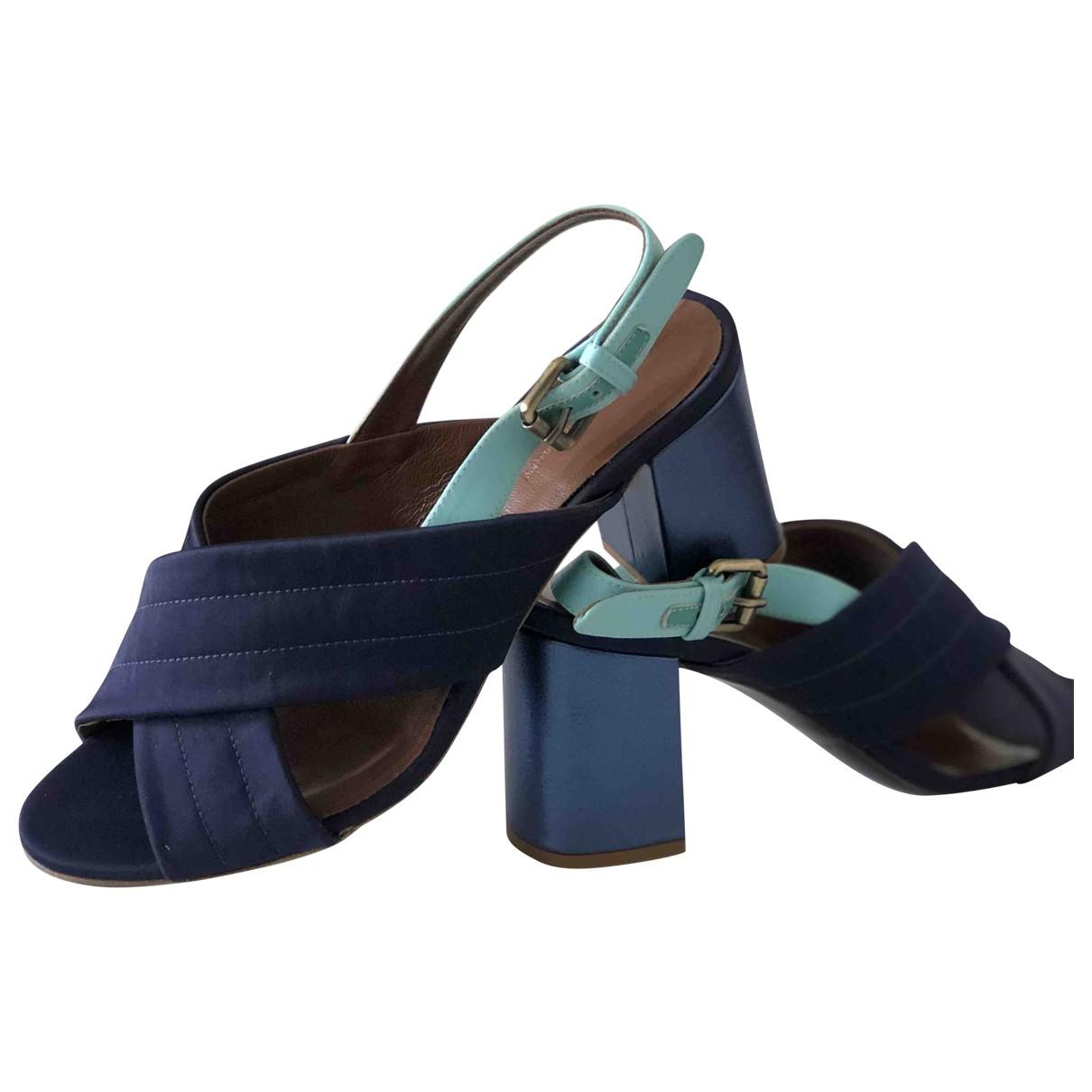 Tommy Hilfiger \N Blue Cloth Heels for Women 39 EU