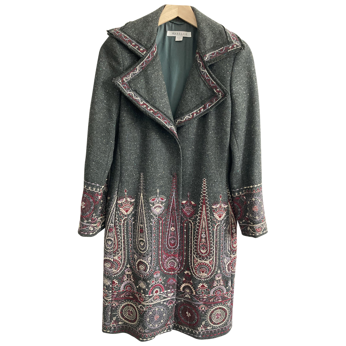 Marella N Grey Wool coat for Women 40 IT