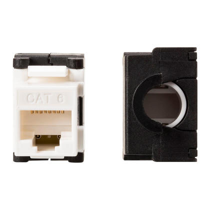 Cat6 RJ45 Toolless Snap Back 180-Degree Keystone - Monoprice®