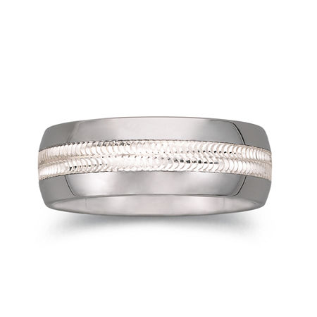 Tungsten Wedding Band, Mens 8mm Comfort Fit, 9 , No Color Family