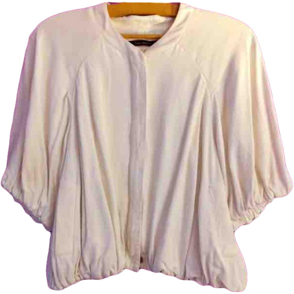 Tara Jarmon \N White Linen jacket for Women 38 FR