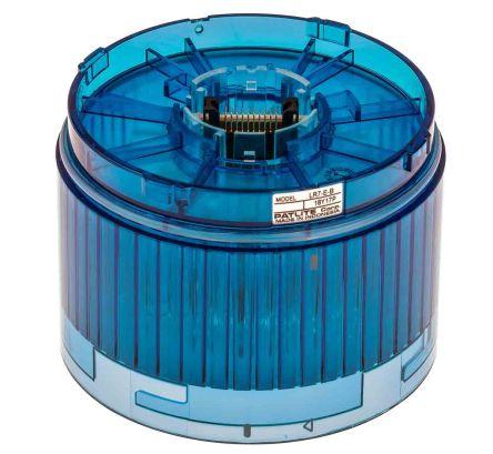 Patlite LED Pre-Configured Beacon Tower, Blue, 24 V dc