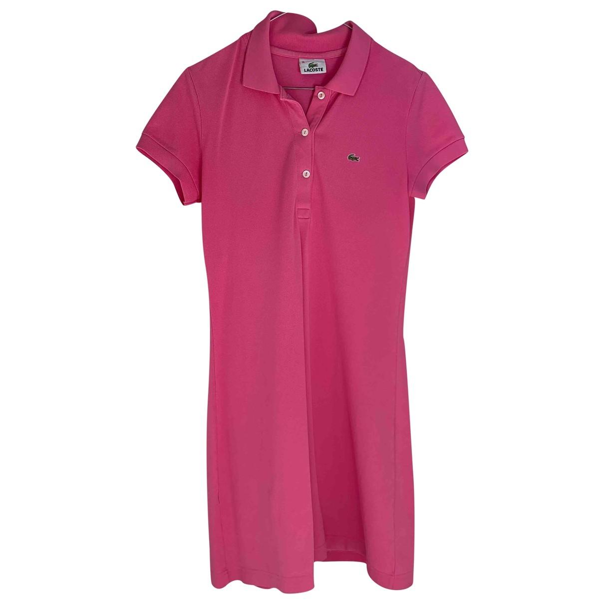 Lacoste - Robe   pour femme en coton - rose