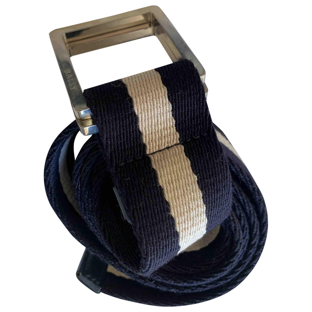 Bally \N Navy Cloth belt for Men 100 cm