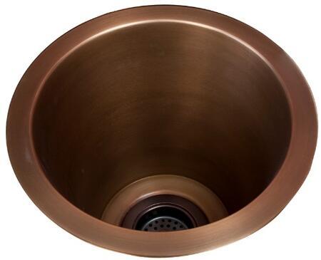 PSCSB3000-SAC Sykes 10 Deep Copper Bar Sink w Flat Bottom