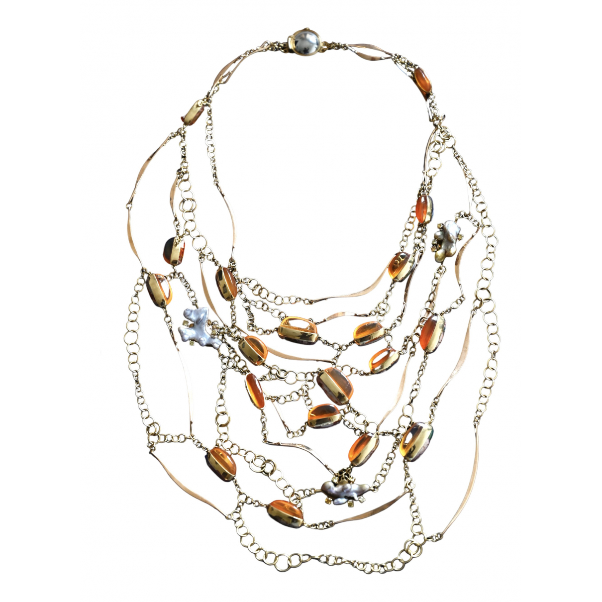 Non Signé / Unsigned \N Multicolour Yellow gold necklace for Women \N