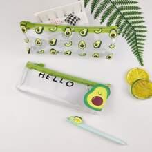 1pc Avocado Print Random Pencil Bag