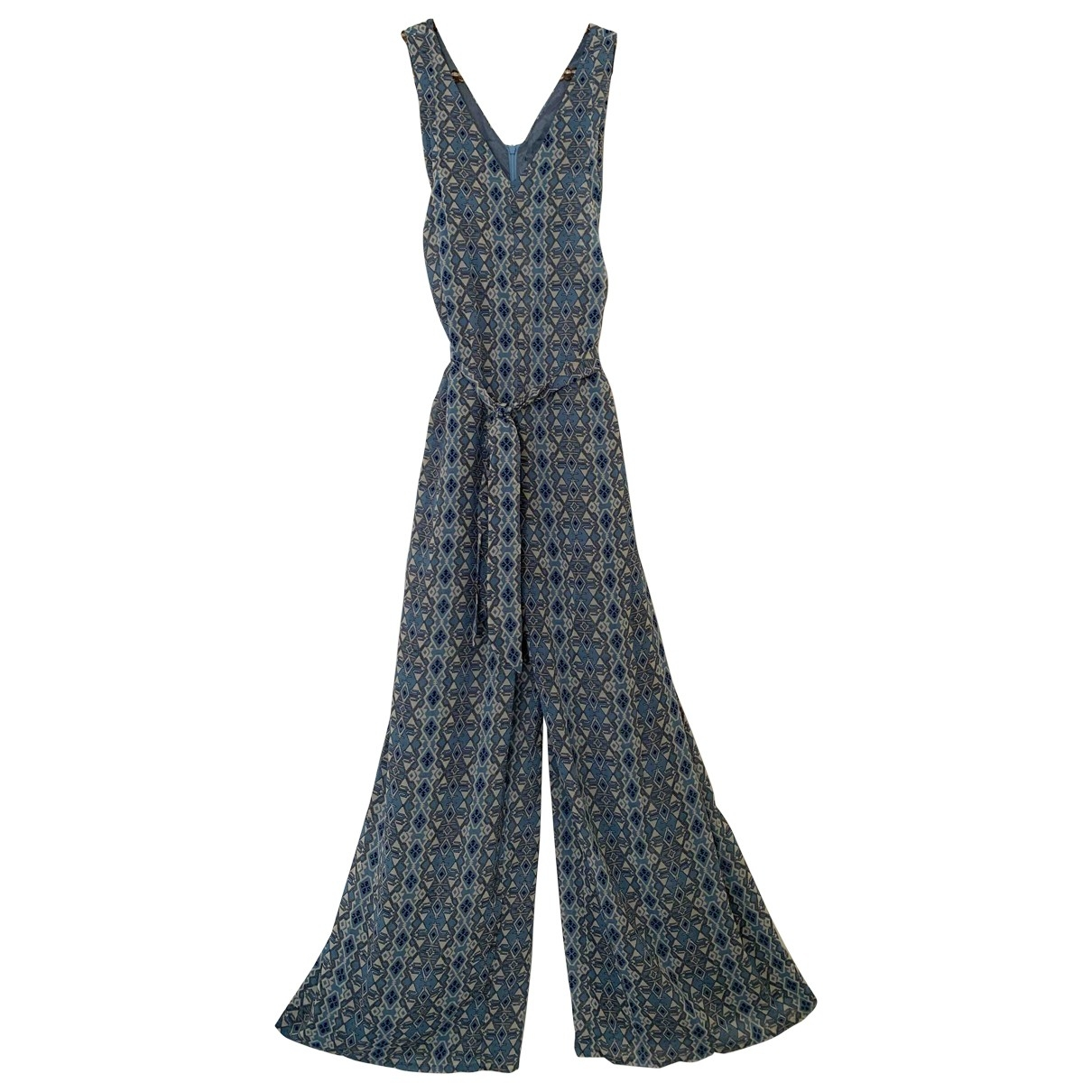 Non Signe / Unsigned \N Jumpsuit in  Blau Polyester