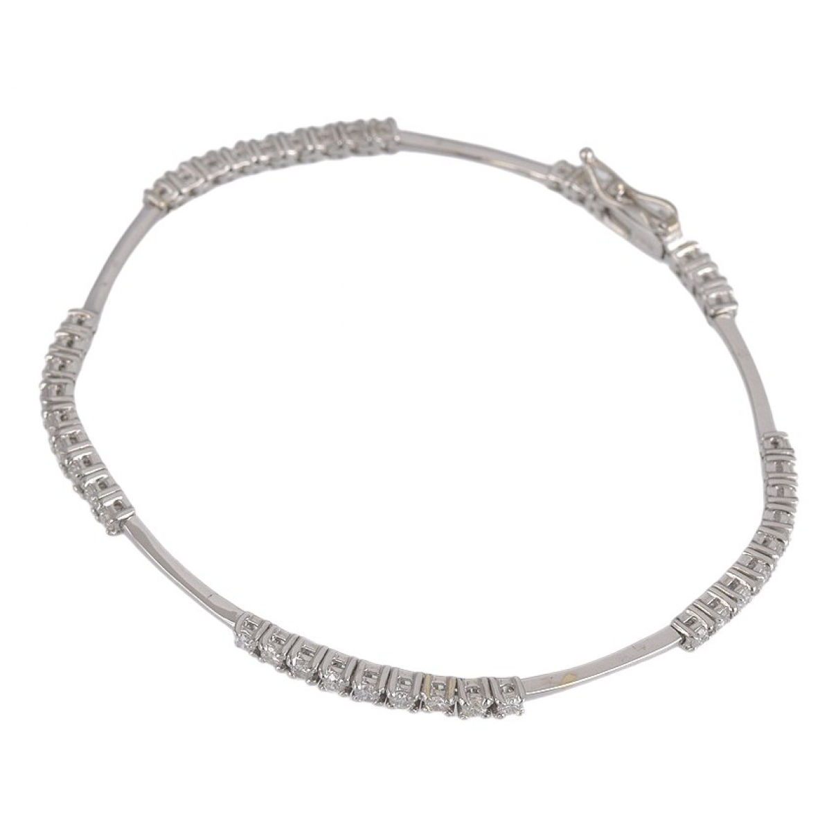 Non Signe / Unsigned \N Armband in  Silber Weissgold