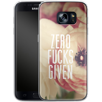 Samsung Galaxy S7 Silikon Handyhuelle - Zero Fcs Given von Statements