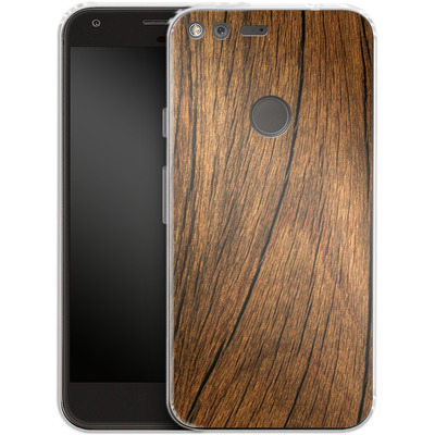 Google Pixel XL Silikon Handyhuelle - Wood von caseable Designs