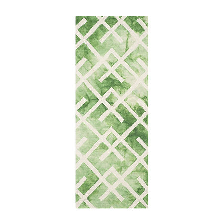 Safavieh Dip Dye Collection Earleen Geometric Runner Rug, One Size , Multiple Colors