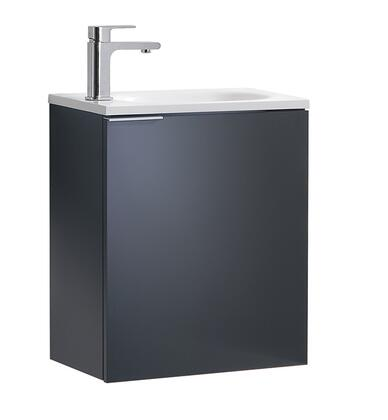 Valencia Collection FCB8003GG-I 20 Wall Hung Sink Vanity with White Acrylic Top  Soft Closing Door and Integrated Sink in Dark Slate