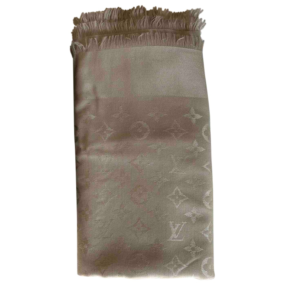Louis Vuitton Châle Monogram Grey Silk scarf for Women N