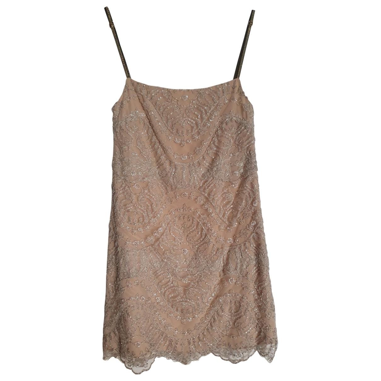 Non Signe / Unsigned \N Kleid in  Beige Mit Pailletten