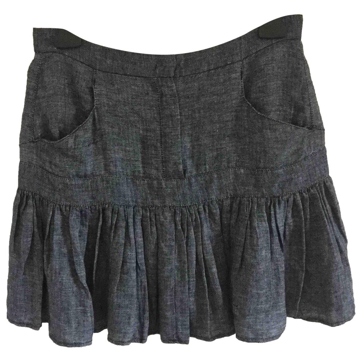 See By Chloé \N Grey Linen skirt for Women 8 UK