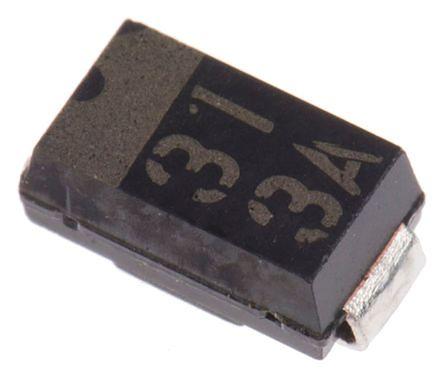 ROHM 60V 3A, Schottky Diode, 2-Pin SOD-106 RB058L-60TE25 (25)