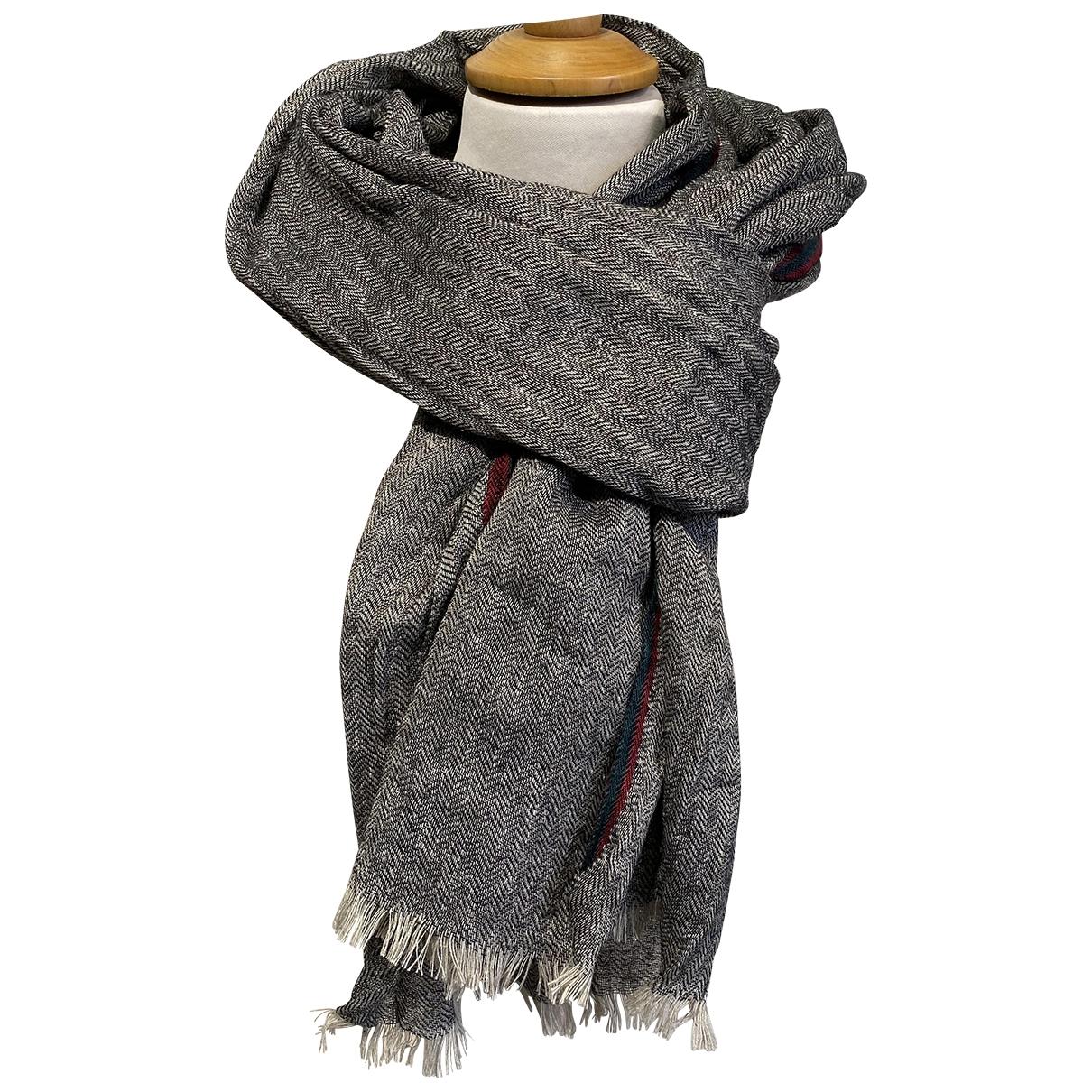 Ivan Grundhal \N Schal in  Grau Wolle