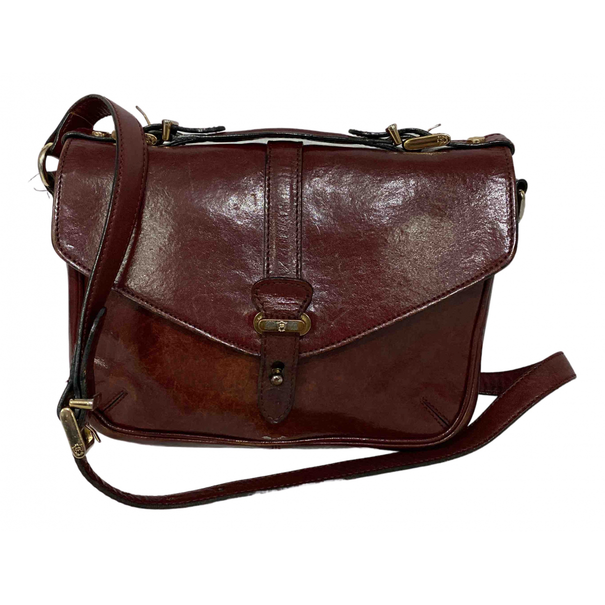 Massimo Dutti N Burgundy Leather handbag for Women N