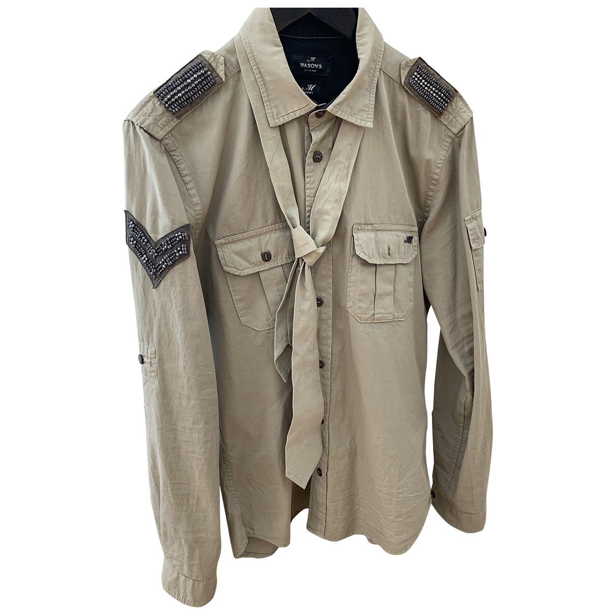 Non Signé / Unsigned \N Khaki Cotton Shirts for Men M International
