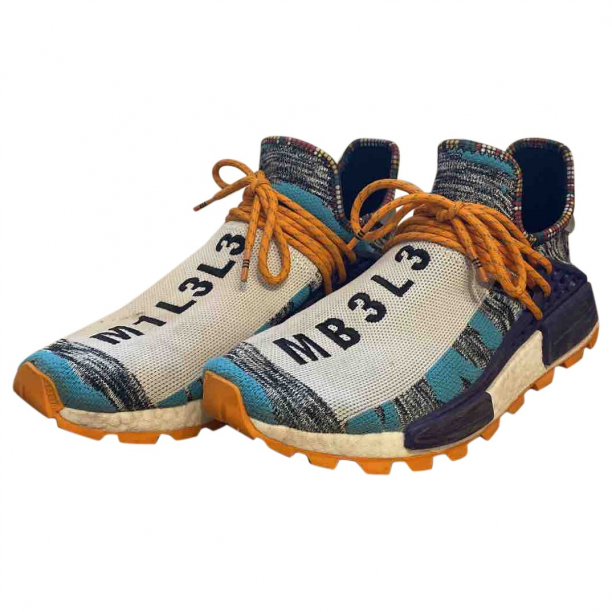Adidas X Pharrell Williams NMD Hu Multicolour Cloth Trainers for Men 44 EU