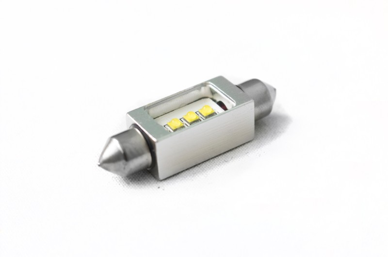 Race Sport Lighting RS42MMHPW White 42mm Festoon BLAST Series Hi Power 5-Watt CREE LED Replacement Bulbs