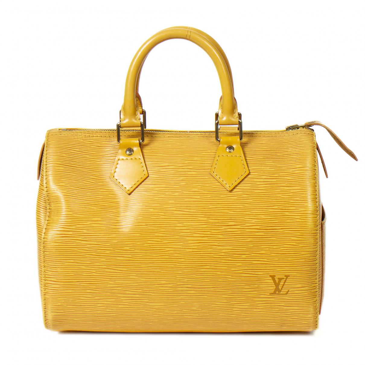 Louis Vuitton Speedy Handtasche in  Gelb Leder