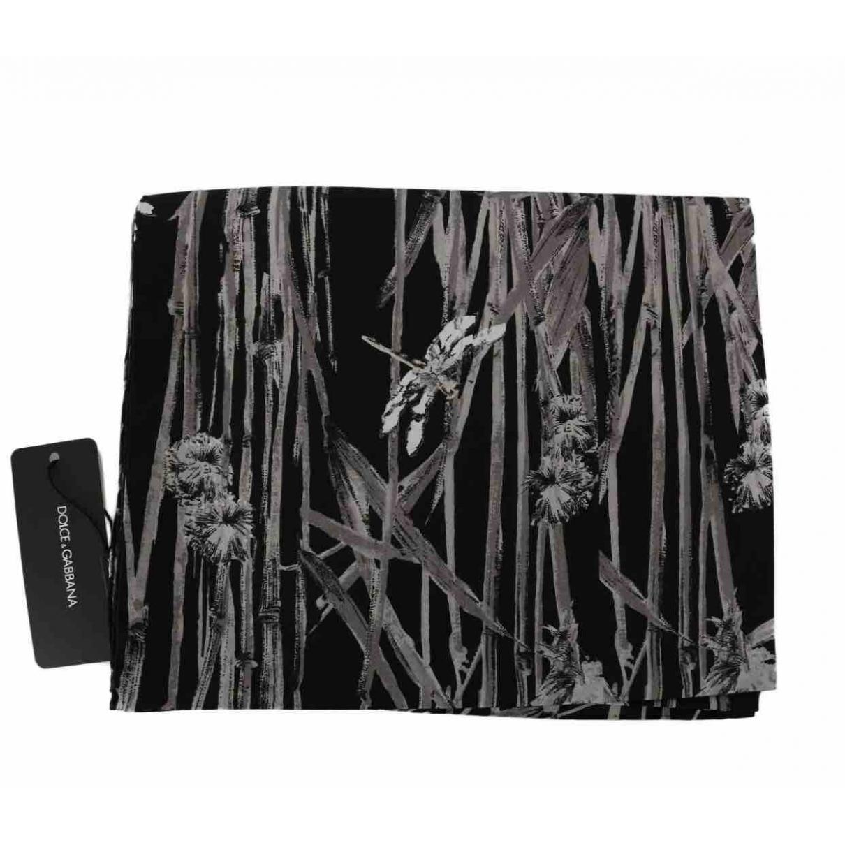 Dolce & Gabbana \N Black Silk scarf for Women \N