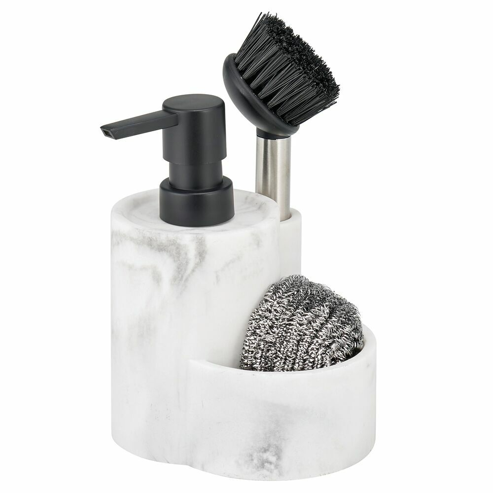 Marble Kitchen Counter Caddy with Pump and Brush 4.9