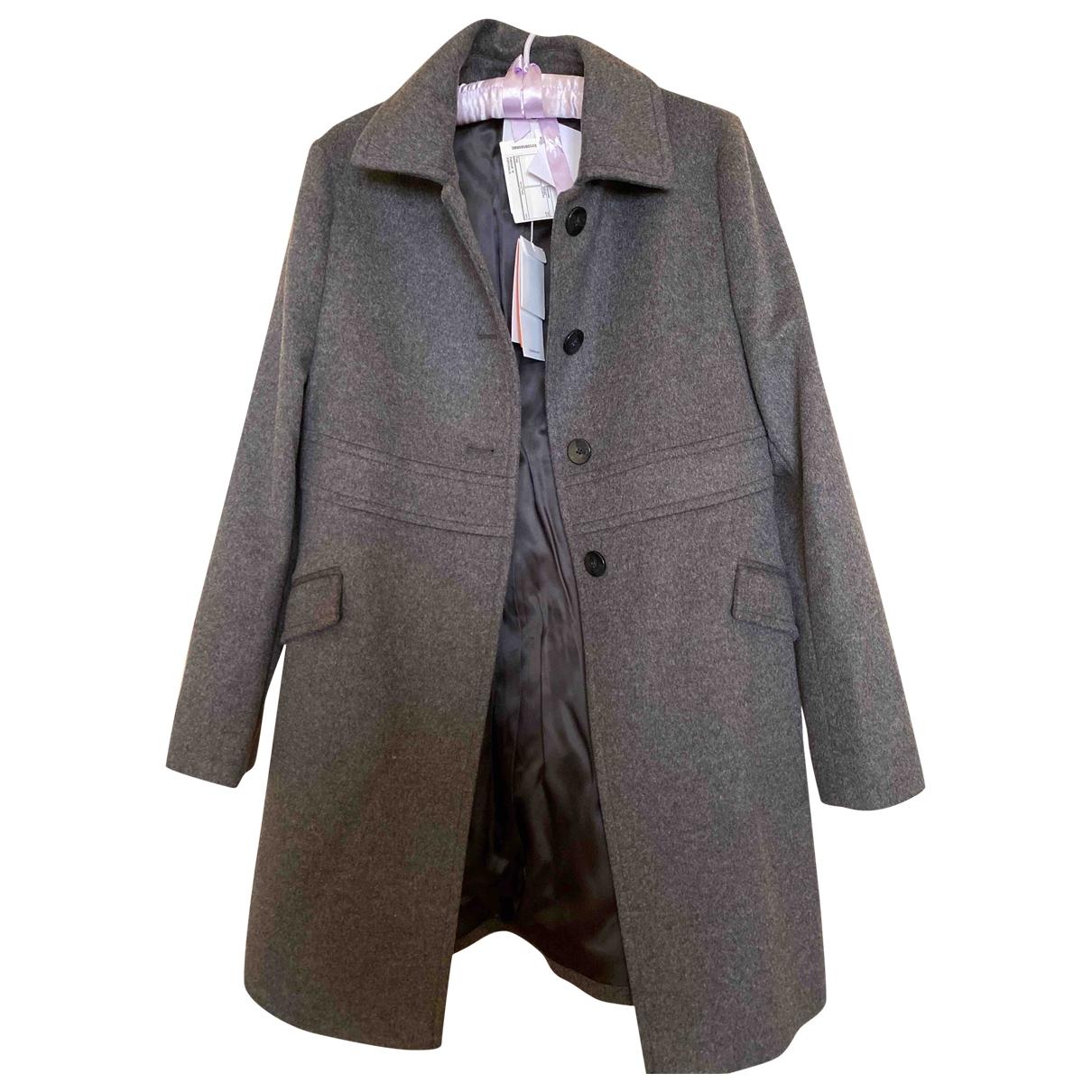 Boss - Trench   pour femme en laine - gris