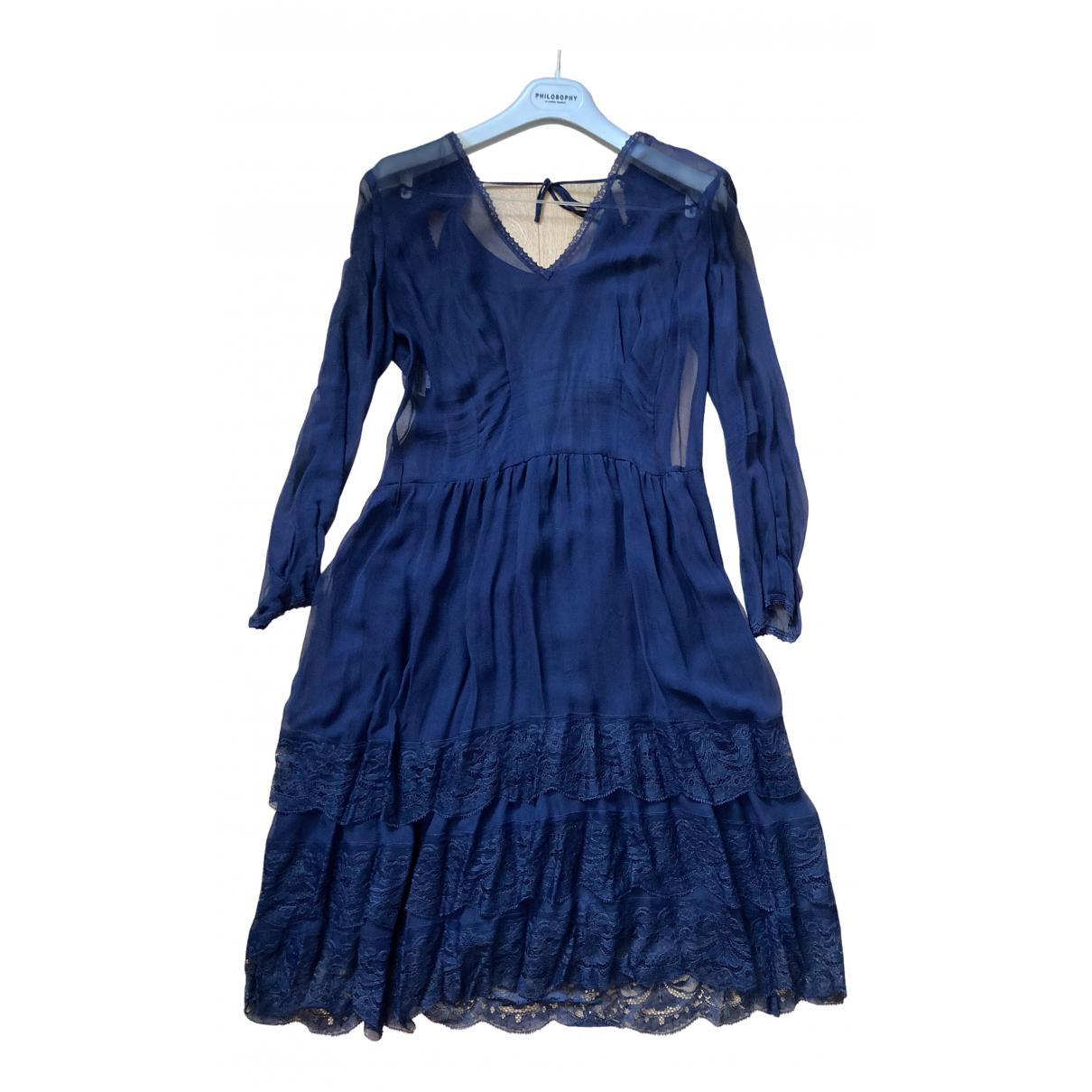 Philosophy Di Alberta Ferretti \N Kleid in  Blau Seide