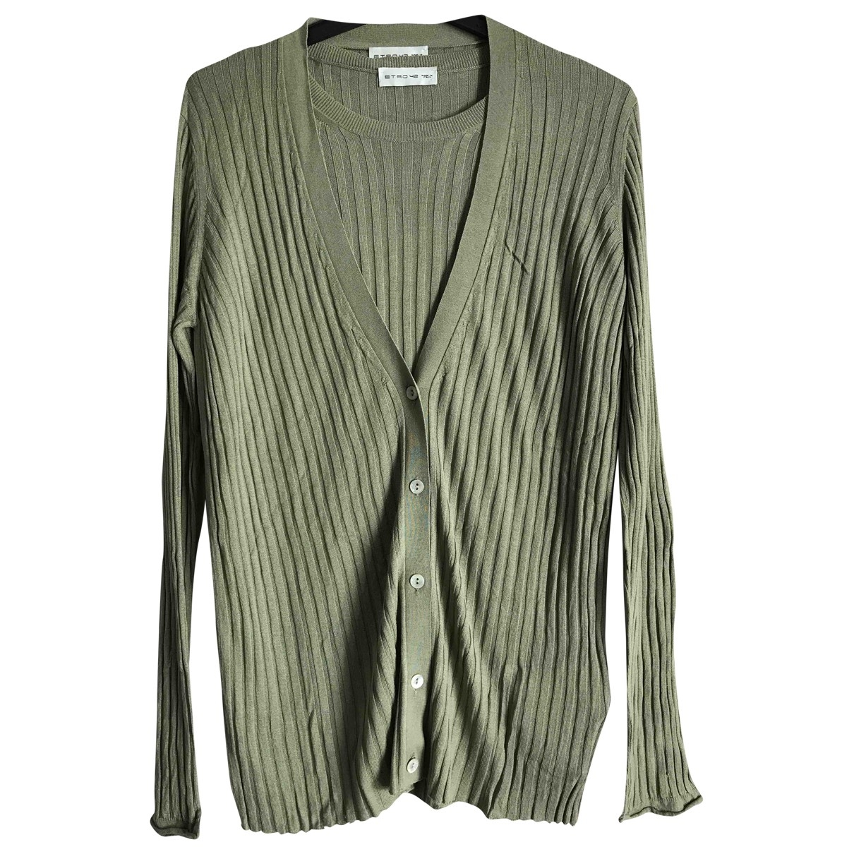 Etro \N Pullover in  Gruen Seide