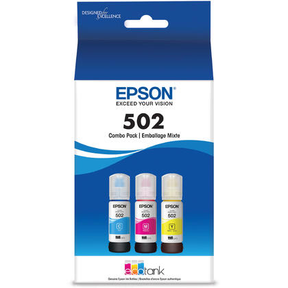 Epson T502 T502520-S Original Color Ink Bottle Combo C/M/Y