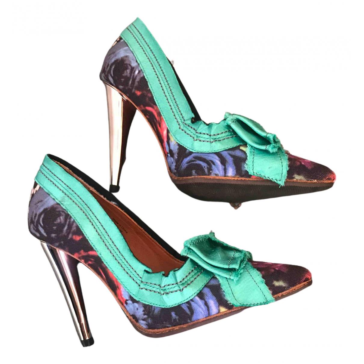 Lanvin For H&m - Escarpins   pour femme en toile - multicolore