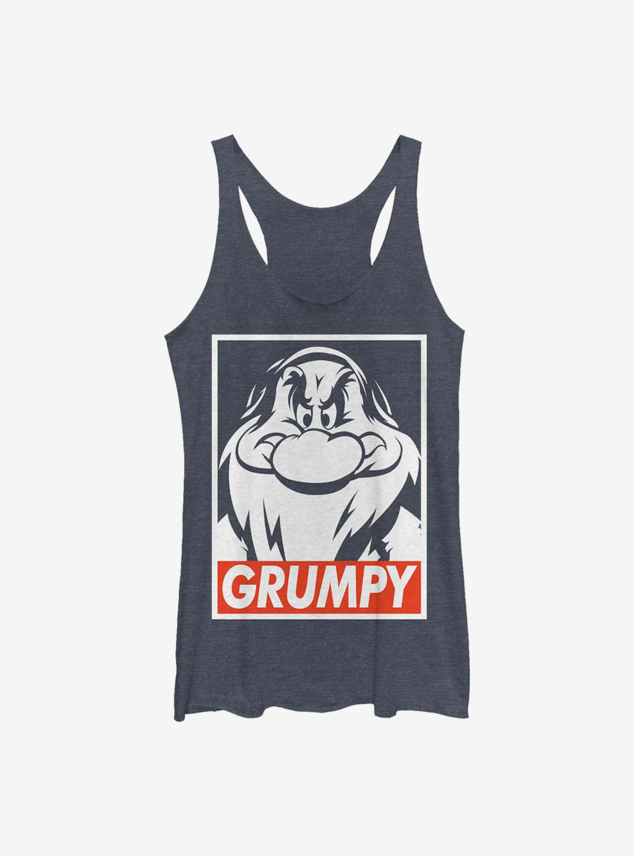Disney Snow White And The Seven Dwarfs Grumpy Poster Womens Tank Top