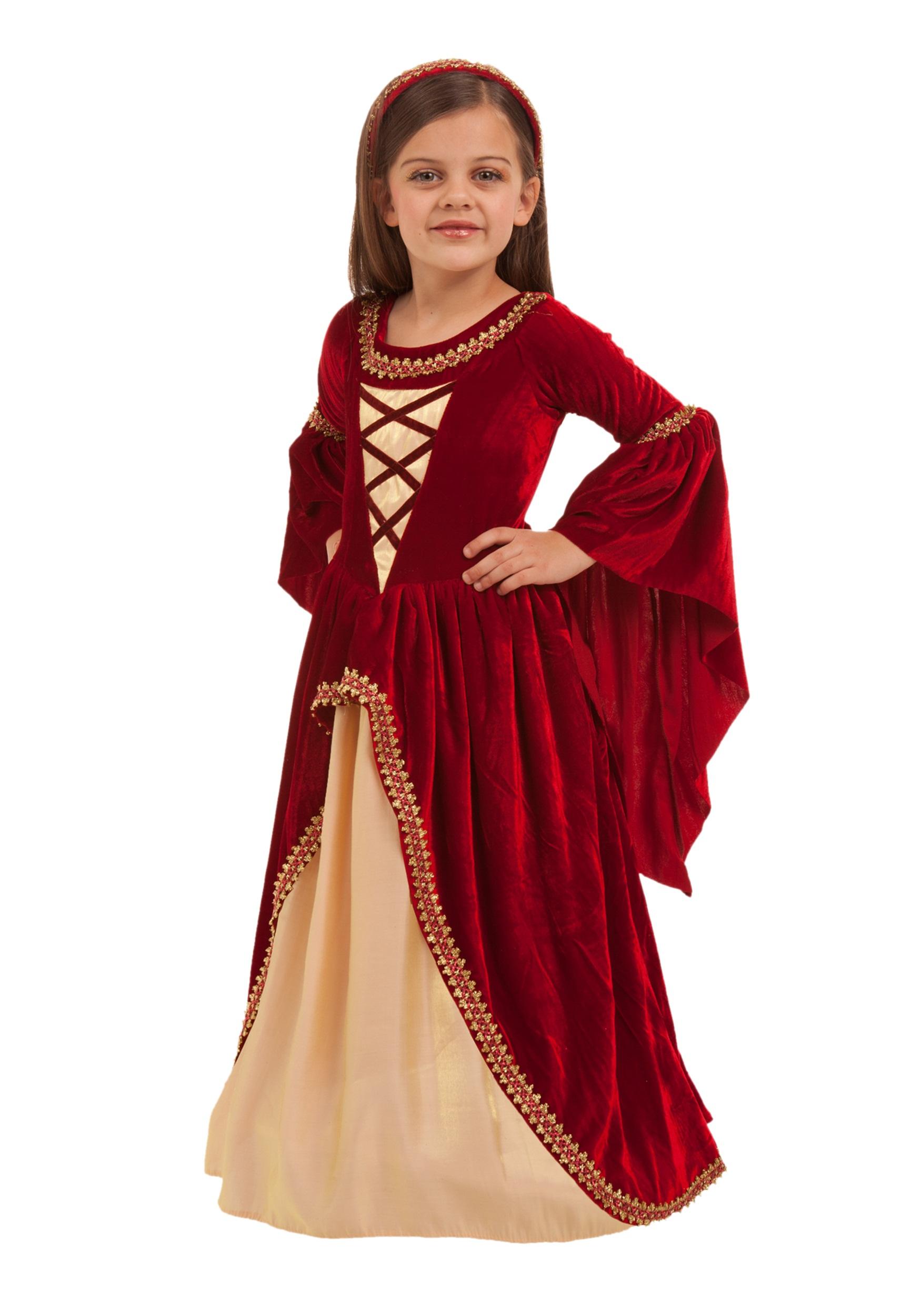 Alessandra the Crimson Princess Girls Costume