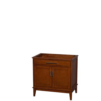 WCV161636SCLCXSXXMXX 36 in. Single Bathroom Vanity in Light Chestnut  No Countertop  No Sink  and No